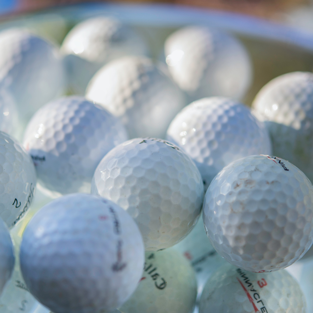 many golf balls and many golf product finds dive into